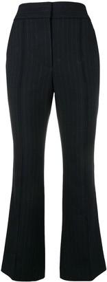 Joseph flared pinstripe trousers