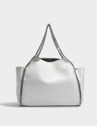 Stella McCartney Reversible Shaggy Deer Falabella Tote Bag in Chalk Eco Leather