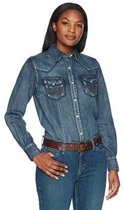 Wrangler Women's Long Sleeve Snap Front Western Shirt