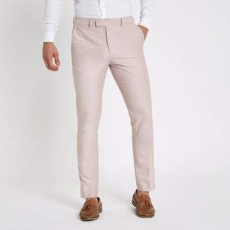 River Island Pink skinny fit smart pants