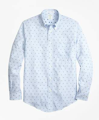 Brooks Brothers Milano Fit Stripe with Anchors Sport Shirt
