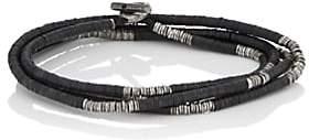M. Cohen Men's Rondelle-Bead Wrap Bracelet-Black