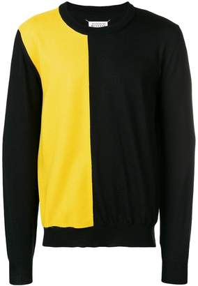 Maison Margiela chest panel crew neck jumper