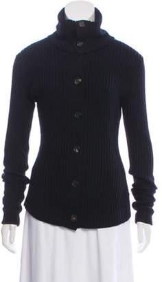 Derek Lam Rib Knit Wool Cardigan Black Rib Knit Wool Cardigan