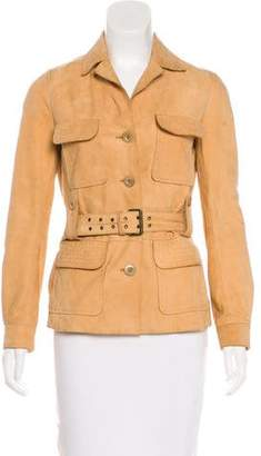 Philosophy di Alberta Ferretti Suede Button-Up Jacket