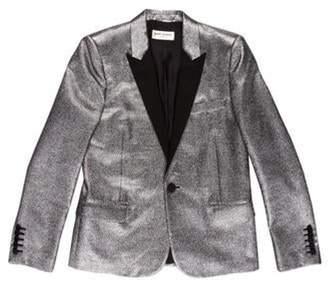 Saint Laurent 2013 Metallic Tuxedo Jacket silver 2013 Metallic Tuxedo Jacket