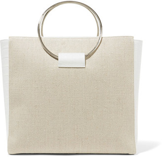 Little Liffner - Ring Canvas And Croc-effect Leather Tote - White