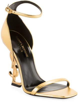 4c904482483 Saint Laurent Opyum Logo-Heel Sandals