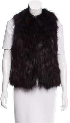 Haute Hippie Striped Fox Fur Vest