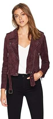 Blank NYC [BLANKNYC]]]]]]] Women's Suede Moto Jacket Outerwear