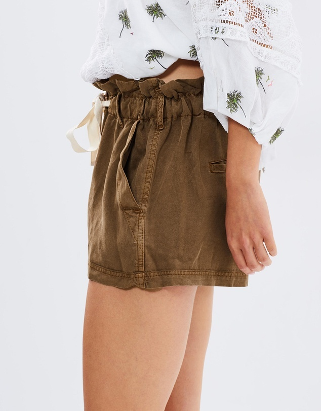 Free People High-Waisted Wash Shorts