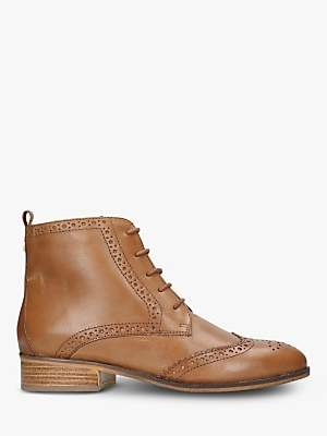 5d08e535113 at John Lewis and Partners · Carvela Toby Lace Up Brogue Ankle Boots