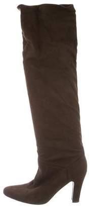 Stella McCartney Vegan Suede Knee-High Boots