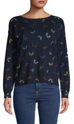 Joie Eloisa Butterfly Cotton & Cashmere Sweater