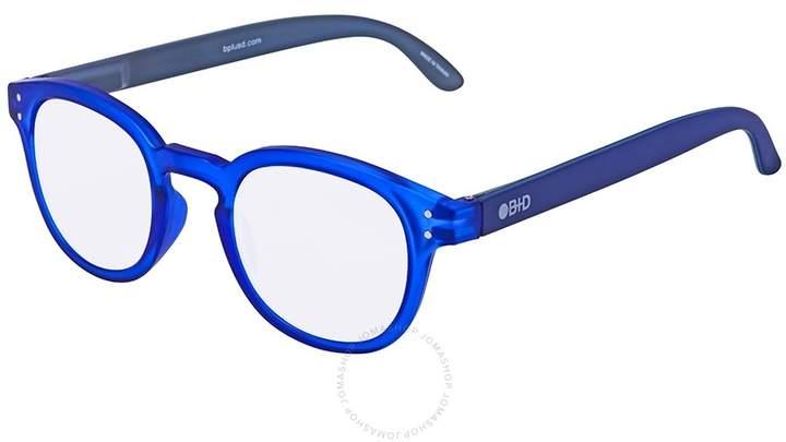 B+D Blue Ban Reader Matt Blue Eyeglasses
