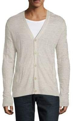 John Varvatos Long-Sleeve Silk & Cashmere Cardigan