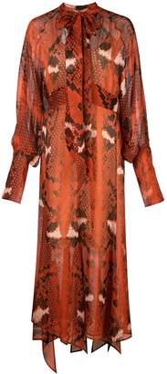 Petar Petrov Delmar asymmetrical chiffon dress