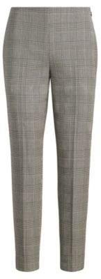 Ralph Lauren Annie Glen Plaid Skinny Pant Black/Antique Cream 8