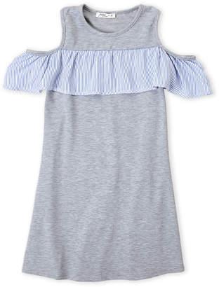 Pinc Premium Girls 7-16) Cold Shoulder Flounce Dress
