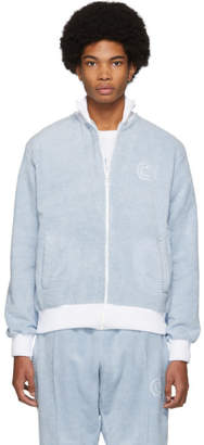 Casablanca Blue and White After Sports Track Jacket