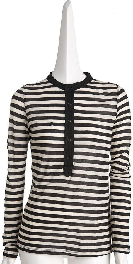 Proenza Schouler Skinny Striped Henley