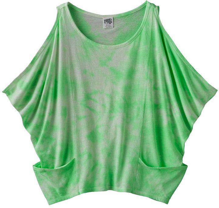 Hang ten tie-dye batwing tank - girls 7-16
