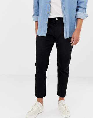 Jack and Jones Jeans In Tapered Fit Black Denim