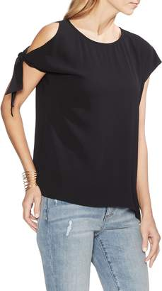 Vince Camuto Single Cold Shoulder Tie Sleeve Top