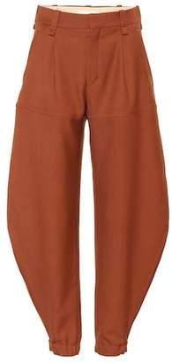 Chloé High-waisted wool pants