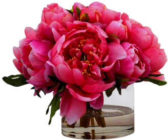 The French Bee Peonies in Small Glass Cylinder