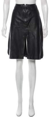 Maiyet Leather Knee-Length Skirt