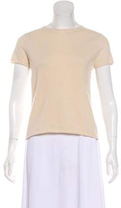 Neiman Marcus Short Sleeve Cashmere Top