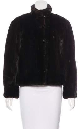 Saint Laurent Mink Button-Up Jacket