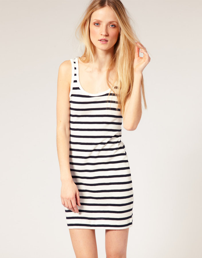 French Connection Stripe Tank Dress