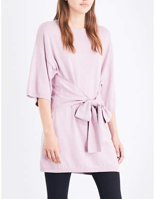 Ted Baker Olympy cotton and cashmere-blend knotted top