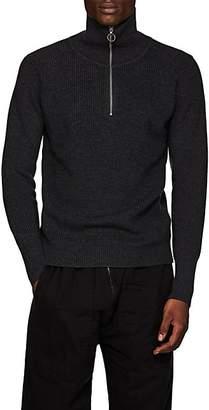 Barena Venezia Men's Virgin Wool Half-Zip Sweater - Dark Gray