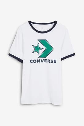 Next Girls Covnerse Star Chevron Ringer T-Shirt