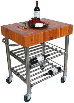 John Boos & Co. Cherry Cucina D'Amico Wine Cart