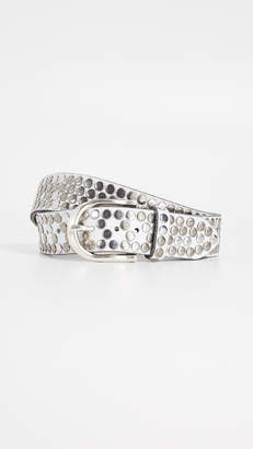 B. Belt White Hammered Multi Stud Belt