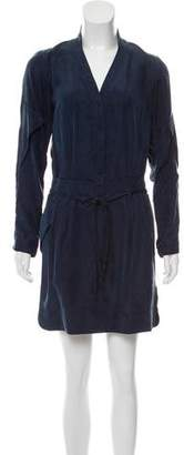 Edun Silk Long Sleeve Mini Dress