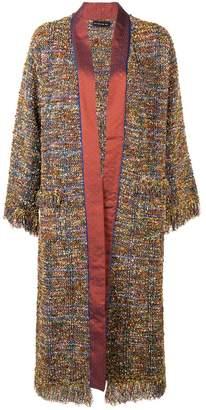 Etro jacquard edging knitted coat