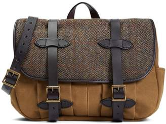 Brooks Brothers Exclusive Filson Fabric and Leather Messenger Bag
