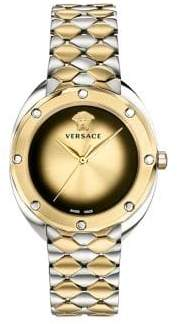 Versace Shadov Two-Tone Three-Hand Stainless Steel Bracelet Watch