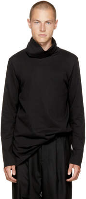 Attachment Black Wide Collar Turtleneck