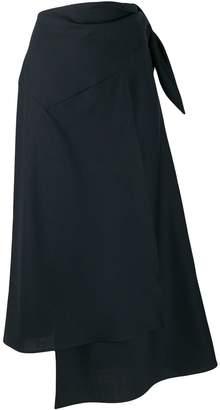 Cavallini Erika asymmetric wrap skirt