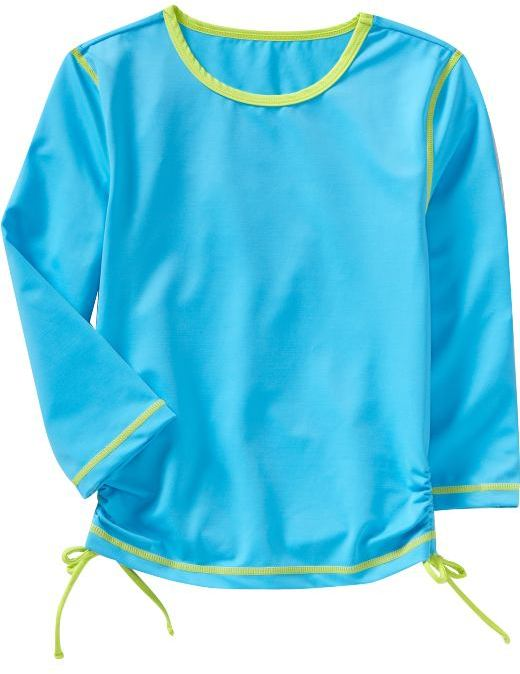Girls Ruched Rashguards