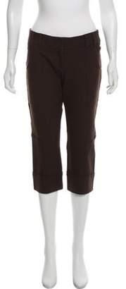 Diane von Furstenberg Mid-Rise Straight-Leg Pants w/ Tags Brown Mid-Rise Straight-Leg Pants w/ Tags