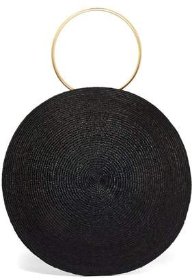 Eliurpi - Circle Maxi Woven Straw Bag - Womens - Black