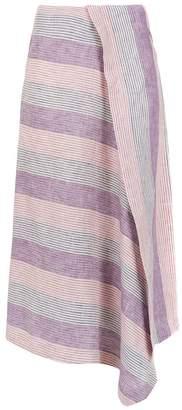 Alcaçuz Knife striped skirt
