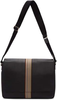 Paul Smith Black Multi Stripe Messenger Bag